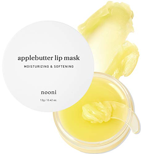 NOONI Applebutter Lip Mask with Shea Butter, AHAs, and Vitamins A,C & E   Moisturizing Lip Mask Overnight   Korean Skincare for Cracked Lip Repair   Cruelty-free, Gluten-free, Paraben-free