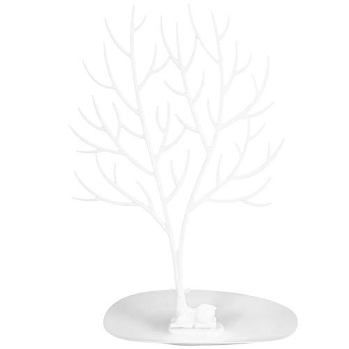 EXCEART Torre di Corna di Gioielli Torre di Gioielli Creativi Visualizzazione Albero Organizzatore Mensole Bracciali Collane Porta Orecchini per Negozio di Arredamento Regalo (Bianco)