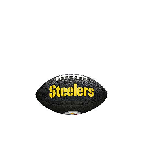 Wilson Unisex-Youth MINI NFL TEAM SOFT TOUCH FB BL PT American Football, Black
