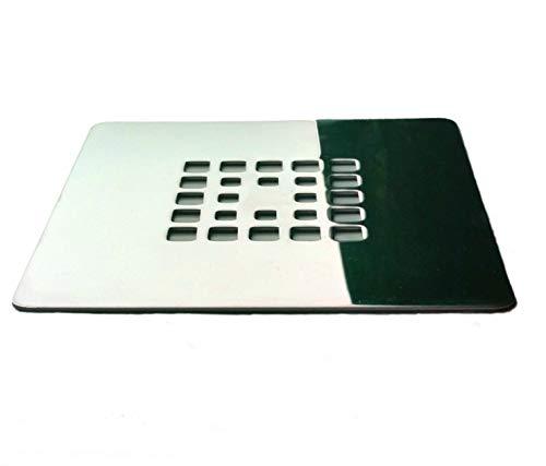 Rejilla cuadrada de 13,5 X 13,5 cm en acero inoxidable para platos de ducha de resina,pizarra,mármol,piedra