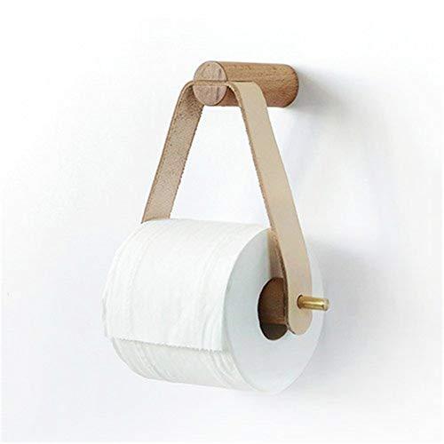 Papel higiénico titular Triángulo del rollo de tejido de almacenamiento en rack estante de madera de cobre Combinación toalla de cocina en rack de almacenamiento de papel higiénico (Color : New)