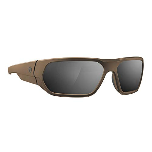 Magpul Radius Sunglasses Tactical Ballistic Military Eyewear Shooting Glasses for Men, Flat Dark Earth Frame, Gray Lens with Silver Mirror (Polarized)