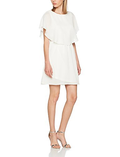VERO MODA Damen Kleid Vmmira S/S Short Dress D2-4, Weiß (Snow White Snow White), 36 (Herstellergröße: S)