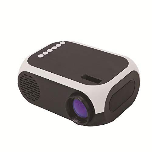 NCBH draagbare mini-projector 1080p Full HD en 80 inch scherm, geschikt voor kantoor thuis en voor op reis buitenshuis, 5 V-2 A, mobiele stroomvoorziening