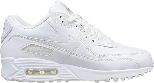 Nike Air Max 90 Leather Herren Sneakers, weiß (white/white), 42 EU