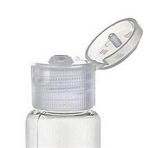 LJZX Envase cosmético 3/5 / 10pcs Botella de loción 10ml / 30ml / 50ml / 60 ml / 100ml Cosmetic vacío de plástico de plástico de plástico Botella de Viaje Adecuado para Uso Familiar o para Viajes
