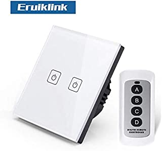 |Switches|EU/UK Standard 1/2/3 Gang RF433 Remote Control Touch Wall Switch, Smart Home Wireless Remote Control Light Switches|by ATUKI|