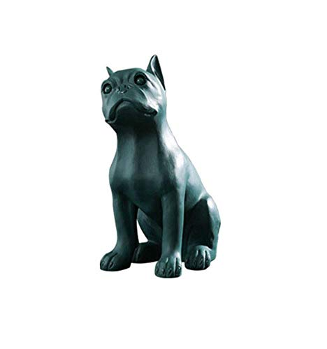 OH Decorazioni Decorative Dog Statue, Francese Bulldog Scultura Design Creativo Animale Vivido Art Resin Pet Decorazione Domestica Artigianato, Nero Decorazione del soggiorno/Verd