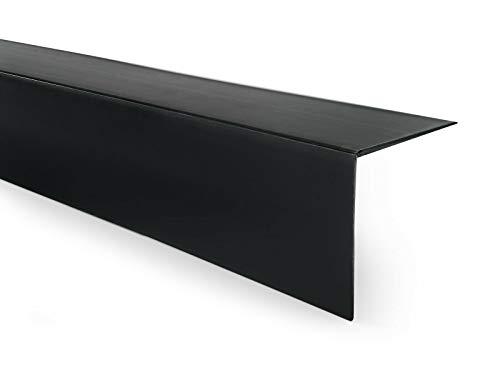 Quest Perfil angular de PVC de plástico, autoadhesivo, protección de bordes, esquinas y rincones, 20 x 20 mm, 100 cm, color negro