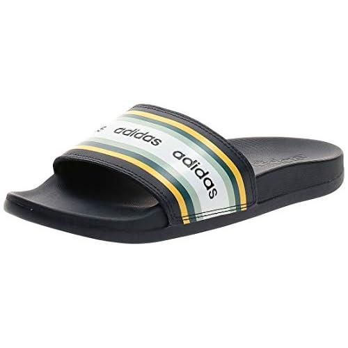 adidas Adilette Comfort, Scarpe da Ginnastica Donna, Legend Ink/Shock Yellow/Ftwr White, 40 2/3 EU