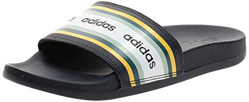 adidas Adilette Comfort, Sandalia Mujer, Legend Ink Shock Yellow FTWR White, 37 EU