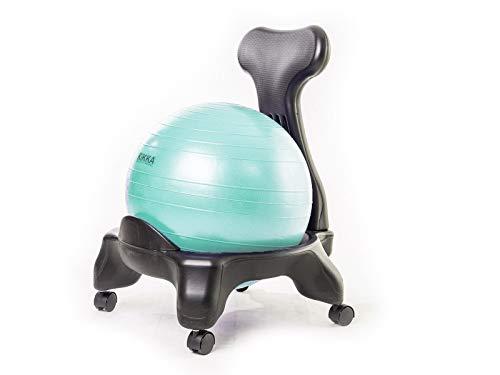 Kikka Active Chair Acquamarina - Silla ergonómica con balón hinchable