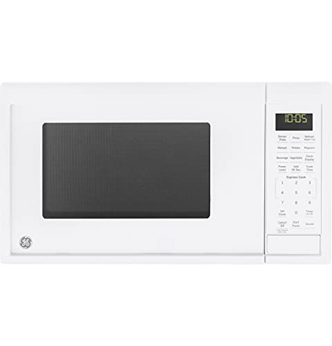 GE Appliances JES1095DMWW GE 0.9 Cu. Ft. Capacity Countertop Microwave Oven, White (Renewed)