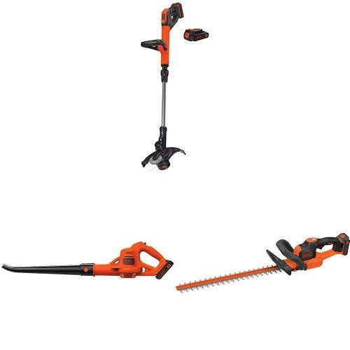 Review BLACK+DECKER LSTE525 20V MAX Lithium Easy Feed String Trimmer/Edger with 2 batteries and swee...
