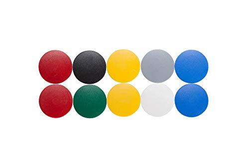 6163299 Lot de 10 aimants Ronds en Plastique incassable 800 g 32 x 8,5 mm