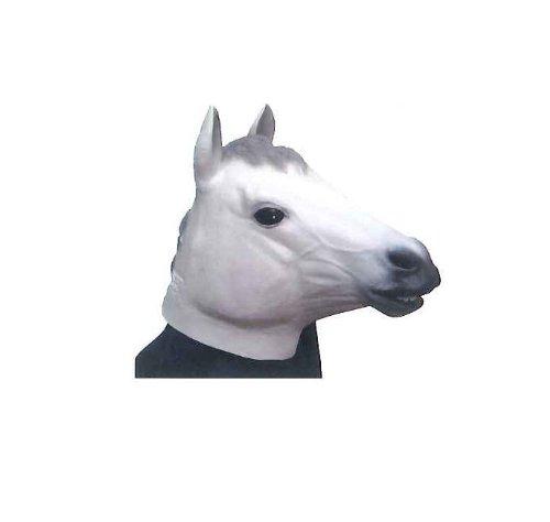Masque de cheval Caoutchouc (Blanc)