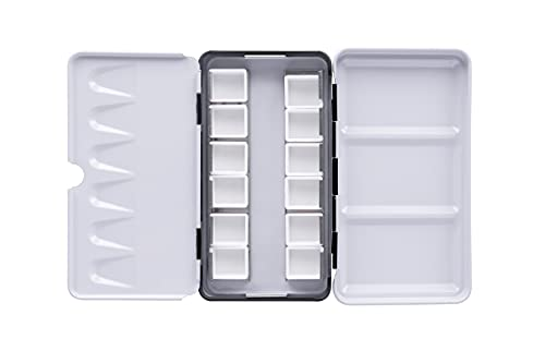 Empty Watercolor Palette Tin,Use as a Travel Watercolor Set with Watercolor Paints(12-24-48 Empty Half Pans)(12 cells)