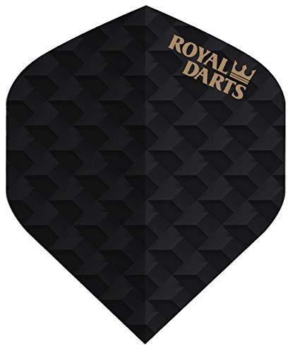 Royal Darts Flights Professional (5 Sets (15 Flights), Schwarz-Carbon)