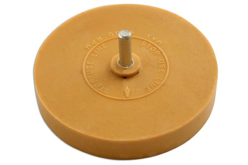 PowerTec 91488 Folienradierer, scheibenförmig, mit Schaft
