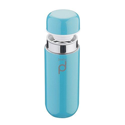 Pioneer DrinkPod Isolierflasche aus Edelstahl 0,2 L Doppelwandig Thermo-Lebensmittelbehälter 6 Stunden Heiß 24 Stunden Kühl Auslaufsicher BPA-Frei - Blau