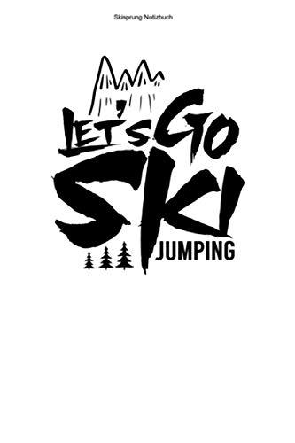 Skisprung Notizbuch: 100 Seiten | Punkteraster | Skisprungschanze Ski Sprung Skispringer Team Schanze Skischanze Ski Springer Springen Geschenk Skispringen Skier Skisprung