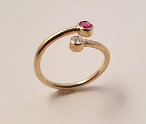 Rubin-Brillant-Ring Gold 585