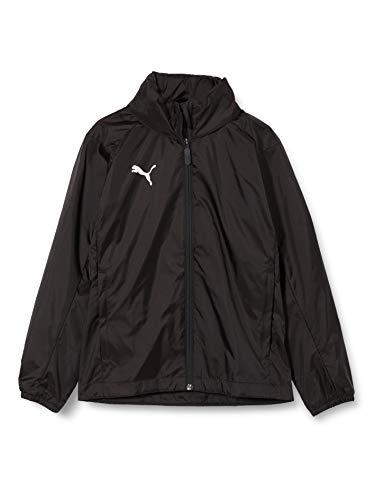 PUMA Kinder LIGA Core Training Rain Jacket, Black White, 176