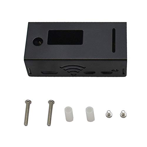 weichuang Elektronisches Zubehör schwarz/silber Aluminiumgehäuse Metallgehäuse Schutzhülle für Hotspot-Board und RPi Kit Elektronikzubehör Elektronikzubehör (Farbe: schwarz)