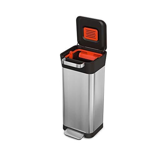 JosephJoseph(ジョセフジョセフ)圧縮ごみ箱クラッシュボックス20Lステンレス30037