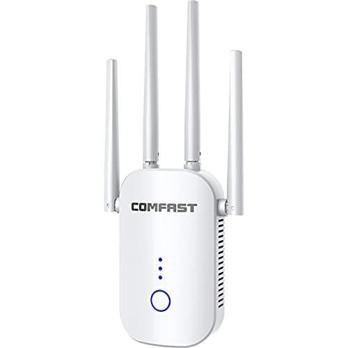 Generic WiFi Range Extender Ripetitore ripetitore Segnale 1200Mbps, Amplificatore Wireless Dual Band 2.4G e 5GHz con indicatore di Segnale, One Button