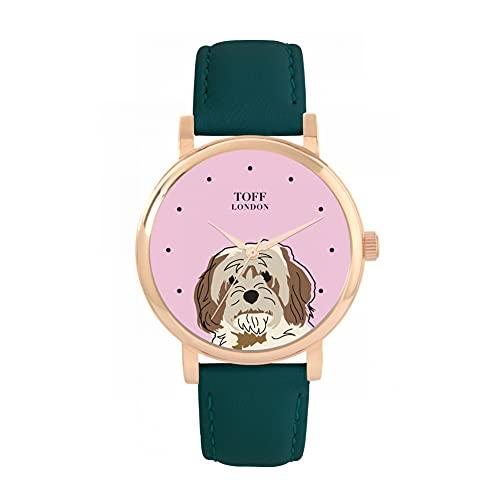 Toff London Reloj de Cabeza de Cavachon Beige marrón