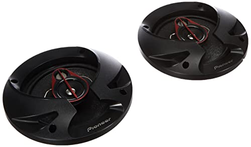 Pioneer TS-R1750S 3-Weg-Koaxiallautsprecher für Autos (250 W), 17 cm, kraftvoller Klang, 40 W Eingangsnennleistung, 47 mm Einbautiefe, schwarz, 2 Lautsprecher