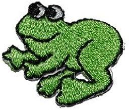 3 er Set Frosch 3 cm 2,5 cm Bügelbild Aufnäher Applikation Patch Tier Tiere