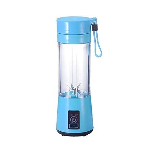 WOTEG Batidora de Vaso Individuales, Mini Licuadora Portátil con 6 Cuchillas 380ML Juicer Smoothie Maker USB Recargable Batidoras de Vaso para Fruta, Verdura, Smoothies, Milkshake