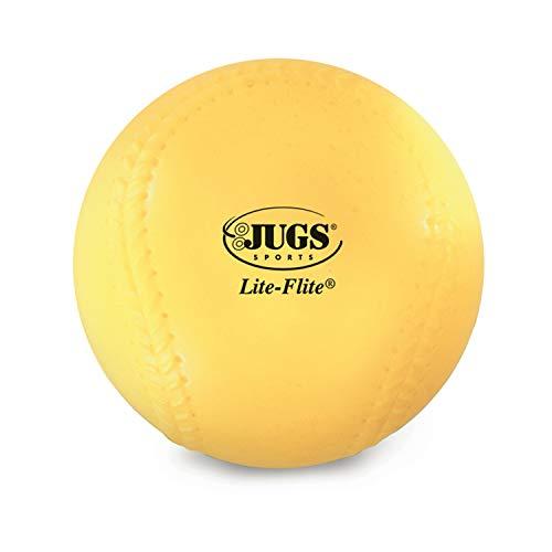 Jugs Lite-Flite Baseballs (One Dozen) , Optic Yellow , 9-inch