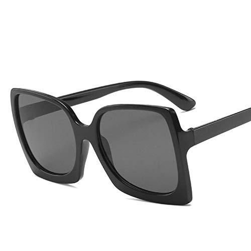 Gafas De Sol Hombre Mujeres Ciclismo Gafas De Sol para Mujer Clásico Moda para Mujer Retro Plástico Retro Vintage Mujer Gafas De Sol-Negro