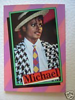 1984 Topps Michael Jackson Card 1 by Topps