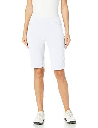 SLIM-SATION Womens Golf Apparel- Womens Golf Shorts (White 12)
