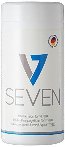 V7 VCL1513 Display Reinigungstücher in Spender für Monitor, Notebook, Tablet, 1er Pack (100 Stück)