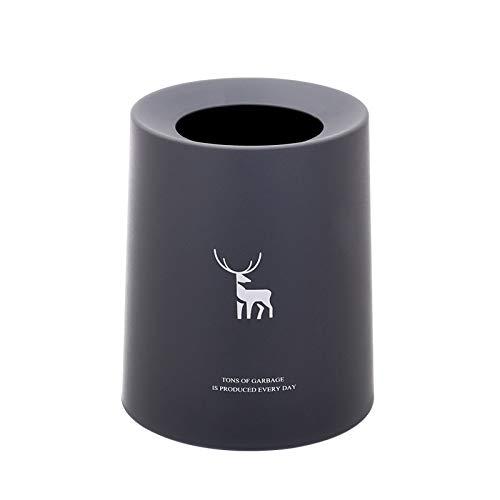 XMYNB Nordic Renne Stampa Bagno Creativo Europeo Ufficio Camera da Letto Soggiorno Casa Senza Coperchio Cestino 21,5 * 25,7 * 19,5 Cm