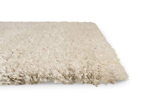 Homie Living I Hochflor Teppich I Parma I sehr flauschig und kuschelig I (Beige, 80 x 150 cm)