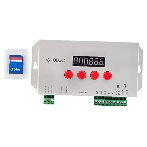 LWWL-Light bar Controller LED Controller Programmable 2048 Pixels WS2812B APA102C SK6812 LED Strip Light Controller K-1000C with SD Card
