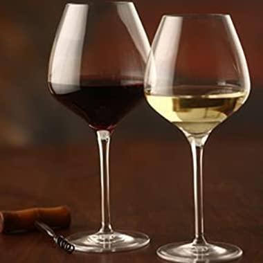 The One Wine Glass - Perfectly Designed Shaped Wine Glasses For all Types of Wine By Master Sommelier Andrea Robinson, Premium Mixed Set of 1 Red Wine Glass and 1 White Wine Glass, Lead Free Crystal