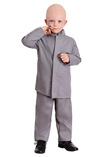 Toddler Gray Suit Costume Mini Evil Man Costume for Kids 4T
