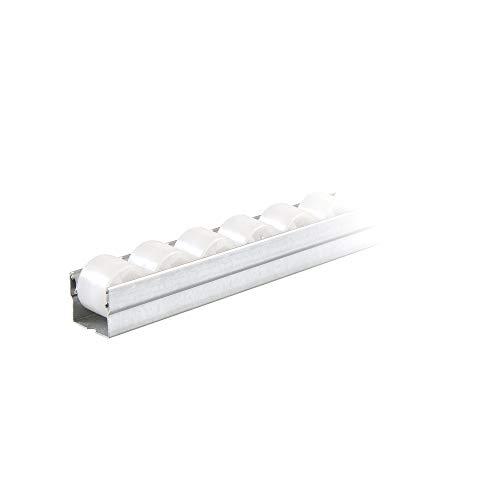 Röllchenleiste Ø32mm Stahlprofil Weiß 1000mm U-Profil Teilung 33mm 1000 mm