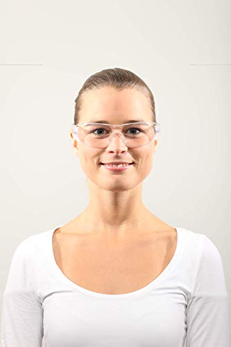 Dräger Schutzbrille X-pect 8330 | Leichte einstellbare Sicherheitsbrille | Für Baustelle, Werkstatt, Fahrrad-Fahren, Joggen | Klar, Kratzfest und beschlagfrei | 10 St. - 3