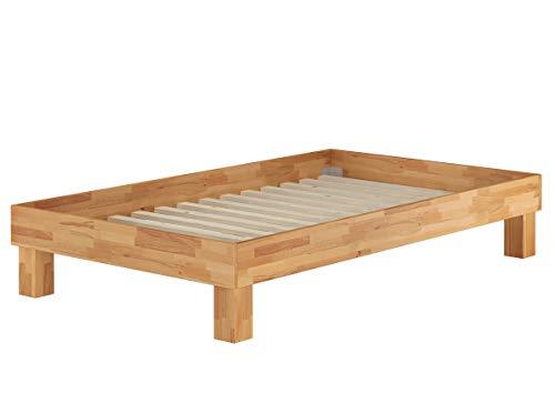 Erst-Holz Varianti di Solido futon Una Piazza e Mezzo 120x200 in Faggio massello Oliato V-60.87-12, Accessori:Doghe in Assi di Legno rigide incl.