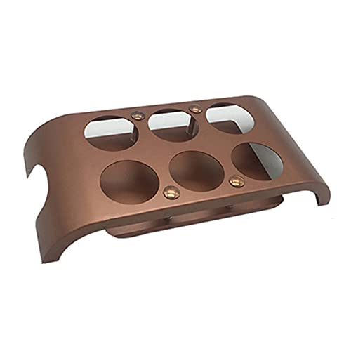 Titular de la taza de la taza de hierro Arte de la taza de la taza cuadrada Bar KTV One Bucal Holder Holder Vino Copa de vino creativo Rose gold-D5.7CM