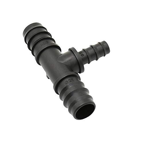 Duurzaam 5pcs 25mm tot 16 mm verloop T Barb Water Splitter Tuinslang Tee 3 Way Connector Barbed Splitter (Color : 25 TO 16 hose)