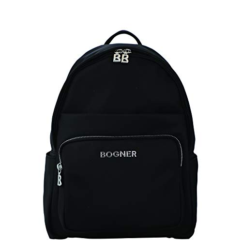 Bogner Damen Klosters Anouk Backpack Mvz Rucksack, Schwarz (Black), 12x34.5x25.5 cm